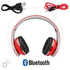 Nuevo Estéreo Bluetooth Auricular Plegable Super Bass auriculares inalámbricos Rojo ukdc