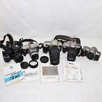 Camera lot SLR NIkon 60 65 Minolta Sigma 70-300mm DL Macro Super Lens (UNTESTED)