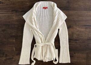 K Derhy Sweater Cardigan Color Cream Size S RP: $198