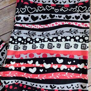 Love Hearts Valentine's Day Women's Leggings TC Plus Size 12-20