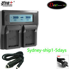 LCD Dual Battery Charger for Sony NP-FZ100 ILCE-9 A9 A7RIII A7III a7RM3  AU-ship