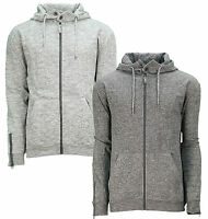 Soul Star Zip Hoodie Men's Fleece Sweatshirt Hooded Top Elwood Mid Grey Charcoal