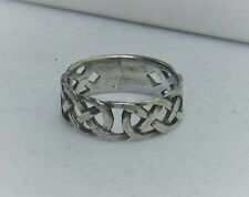 Sterling Silver Celtic Knot Band Ring Size 8 1/2