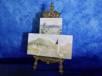 2 Antique Watercolour Paintings of Cumbrian landscape & church (Lake District)