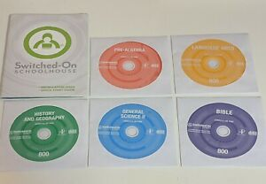Switched On Schoolhouse 8th Grade CD Set!  Windows 10!