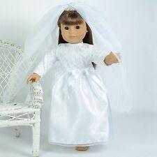 Exquisite Designer Wedding Gown for 18 Inch Dolls