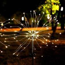 90 LED Solar Powered Starburst Stake Fairy Light Garden Wedding Outdoor Firework