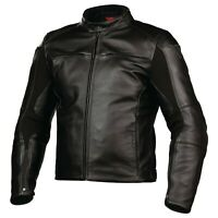 New Dainese Razon Pelle Leather Jacket Men's EU 56 Black #153365100156