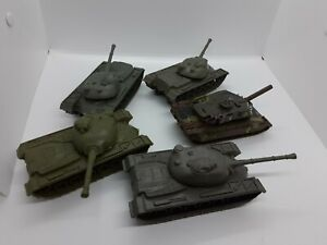 lot of 5 plastic army tanks 5""
