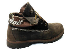 Timberland Roll Top Brown Leather Laced  Winter Ankle Boot Size US. 13