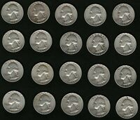 Lot of 20 Washington Silver Quarters Coins Years: 1958 and 1959