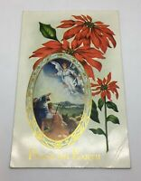 Antique Postcard Christmas Angel Bible Story Shepard Peace on Earth Posted 1915