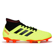adidas Predator 18.3 Firm Ground Football Boots Shoes Yellow Mens
