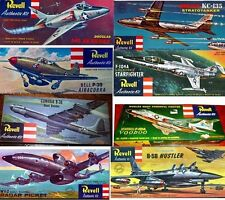 REPRODUCTION DECALS ONLY:  VARIOUS REVELL 1950's AIRCRAFT, HELICOPTERS, ARMOR