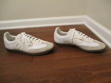 Used Worn Size 14 Adidas Samba Shoes White Sail Khaki Gum Gold