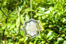 Blume des Lebens Lotus Mobile Drehspirale Windspiel Edelstahl ø 15 cm