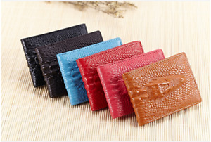 New unisex credit card, ID holder crocodile head pattern PU leather