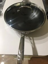 Hexclad Pan Hybrid Stainless Steel/Non-Stick Tri-Ply 12-inch Wok
