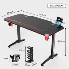 Ergonomic Gaming Desk PC Desk Gamer Tables Workstation USB Rack&Mouse Pad