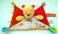 Disney Baby Winnie The Pooh Bear Blankie Taggie Plush Comforter Colourful Red