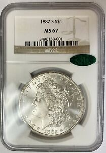 1882 S Morgan Silver Dollar Graded PCGS MS67 CAC