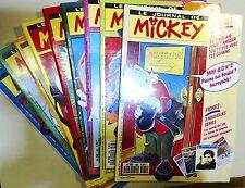 Journal de Mickey du 1984 au 1993 tous avec le cadeau Mini BD