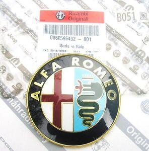 100% GENUINE ALFA ROMEO 156 166 GTV & SPIDER  NEW FRONT GRILLE BADGE 60596492