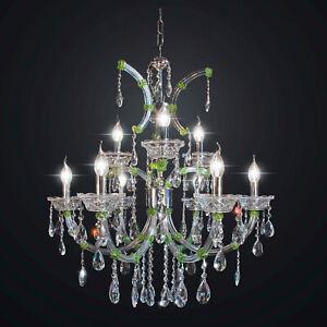 Chandelier Classic Crystal Green Design Op 12 Lights Bga 2076-6-3