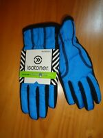 ISOTONER  BLACK/DYNASTY BLUE  ACTIVE SMARTOUCH  WOMEN'S GLOVES NWT XS/S/M