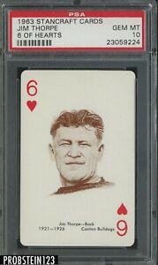 1963 Stancraft Cards 6 of Hearst Football Jim Thorpe PSA 10 GEM MINT