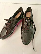 Ladies New Shoes by Zara EUsize41, Burgundy Patent leather Look with color soles
