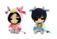 Sale Combo Set of 2 BLACK BUTLER  PLUSH DOLL - SEBASTIAN COW/ CIEL COW COSPLAY !