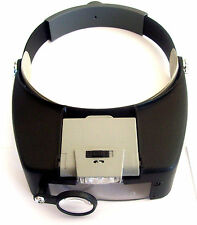 BINOCULAR HEAD VISOR MAGNIFIER WITH LED LIGHTS MAGNIFYING MH1047L LIT LIGHT UP