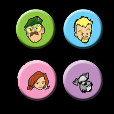 Spaced Badge Set - Tim Daisy Mike Colin