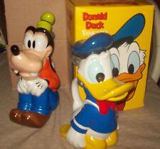 RARE Disney Goofy & Donald Duck Tankards / Steins  Ceramic Brazil Mint!
