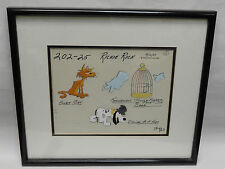 1980 HANNA BARBERA RICHIE RICH DOLLAR AS A HOBO /ALLEY CAT / CAGE ART CEL 202-25