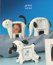 Bomboniera cornice portafoto in metallo, cm 11*14 cane gatto elefante