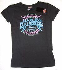 NEW MD Medium (7-8) Girls Harley Davidson Shaking the Streets Short Sleeve Tee