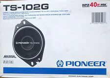 """NOS Pioneer TS-102G Front Dash Car Speakers 10 cm (4"""") Coaxial Two Way GM 40w"""