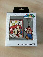 Nintendo Super Mario Wallet & Key Chain Bifold Geldbörse Anhänger