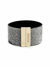 Guess Jewellery Bangle Bracelet Bling Rhinestone and Gold Wrist Cuff Genuine NWT