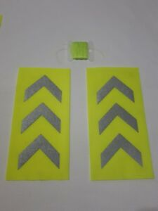 fluorescent  chevron fabric patch with and sew kit be safe be seen this winter