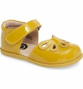 NIB LIVIE & LUCA Petal Shoes Petals Mustard Yellow 12