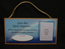 In Memory of CAT RAINBOW MEMORIAL photo picture frame sign PLAQUE kitty kitten