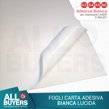 PAPEL ADHESIVO BLANCA hojas para impresoras Inkjet y láser