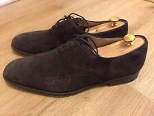 Shoepassion No.576 Herrenschuhe Oxford braun Wildleder Nubuk rahmengenäht UK10,5