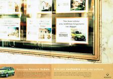 Publicité Advertising 107  1999  Renault (2p)  nouveau Scénic  RXE