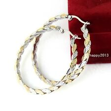 Silver Gold Stainless Steel Fashion Jewelry Round Womens Roung Hoop Earring