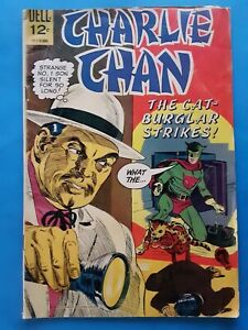SCARCE Charlie Chan #2 1966 Dell Comics Crime Chinese Asian China Silver Age