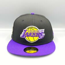 Lakers 2020 Champions 59FIFTY New Era Black Yellow Fitted Hat Cap Gray Bottom